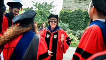 President Martha Pollack at her 2017 Inauguration: Installation Ceremony.