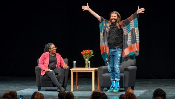 Television personality, Emmy nominee, and hairstylist to the stars, Jonathan Van Ness has a Discussion moderated by Dr. Samantha Sheppard in Bailey Hall.