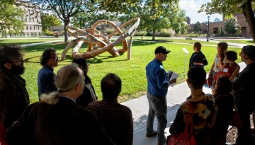 A tour of outdoor projects on campus.