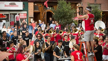 Cornell Marching Band plays