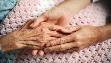 end of life care hands