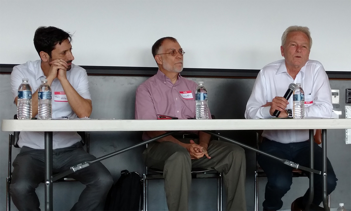 Paul Hirsch, Scott Peters and David Wolfe at ComSciCon