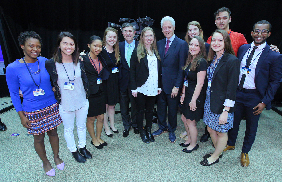 Clinton, Harrison and Cornell students