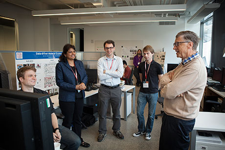Bill Gates with students