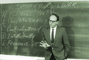 Walter LaFeber at blackboard