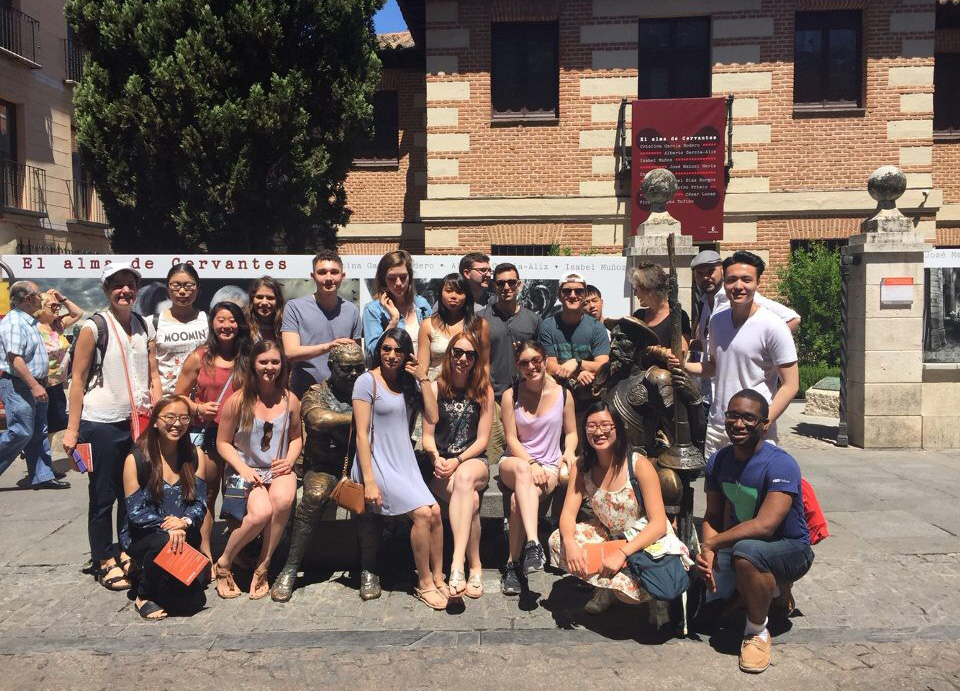 Cornell students in Madrid