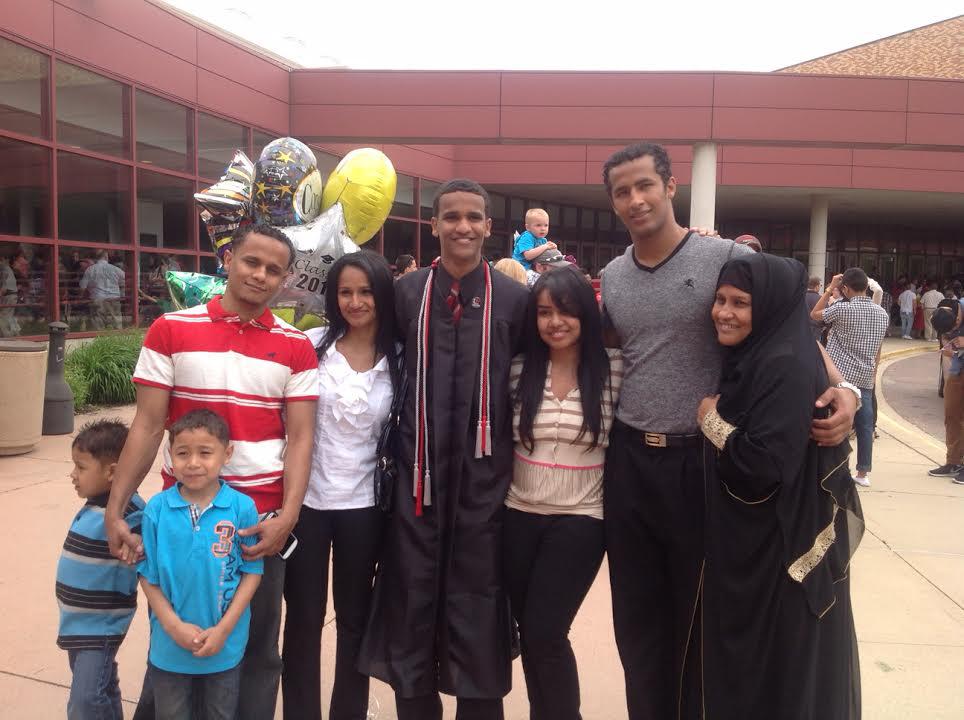 Ahmed at graduation