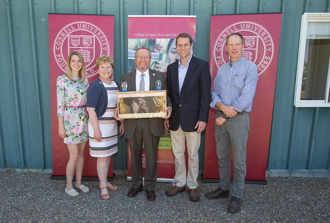 Cornell bee researchers, dean and DEC commissioner