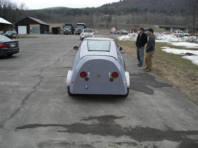 rear view of the car