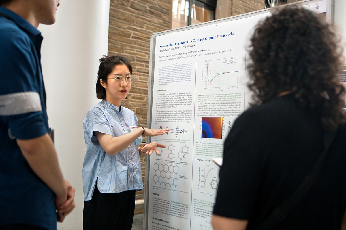 "Yan Yang, a graduate student in the field of chemistry and chemical biology, explains her research on ""Non-Covalent Interactions in Covalent Organic Frameworks."""