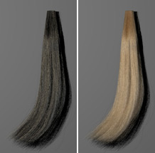computer-generated image of blond hair
