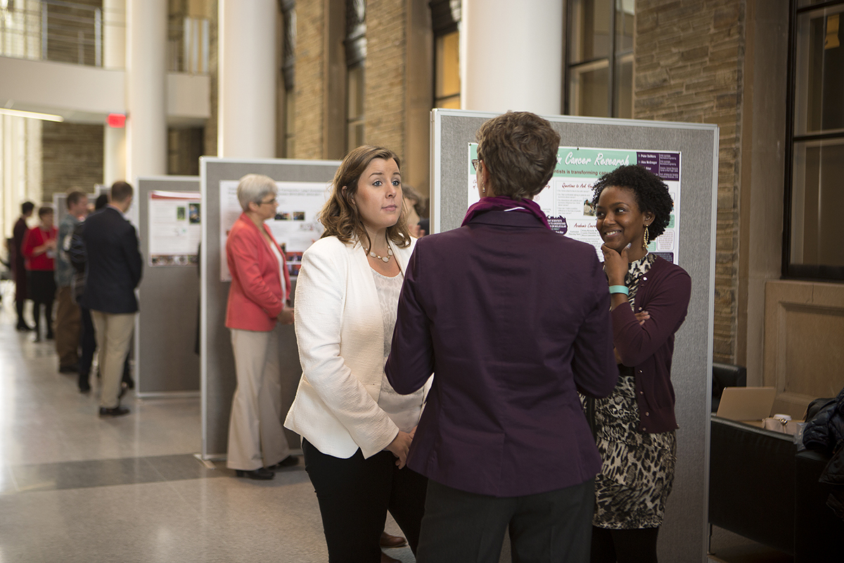 Engaged poster session
