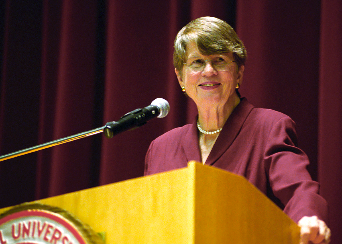 Janet Reno delivers convocation
