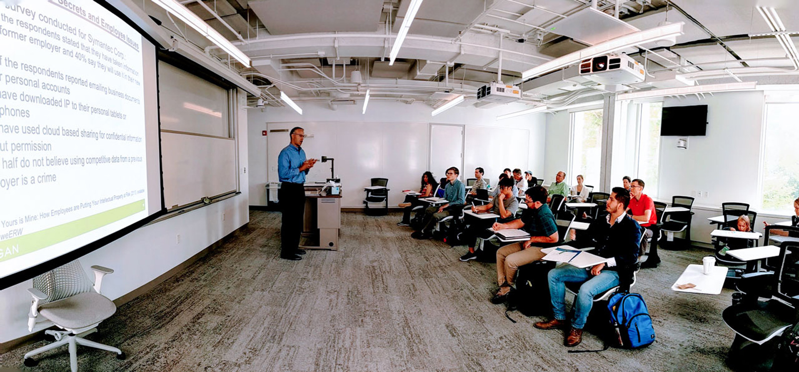 Brad Treat teaches a class