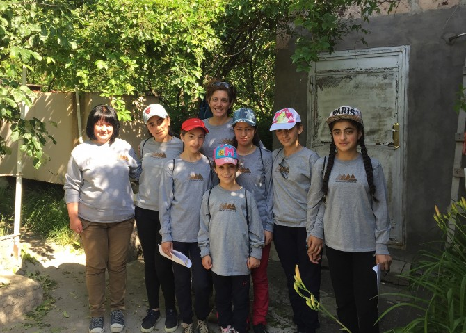 Lori Khatchadourian and campers