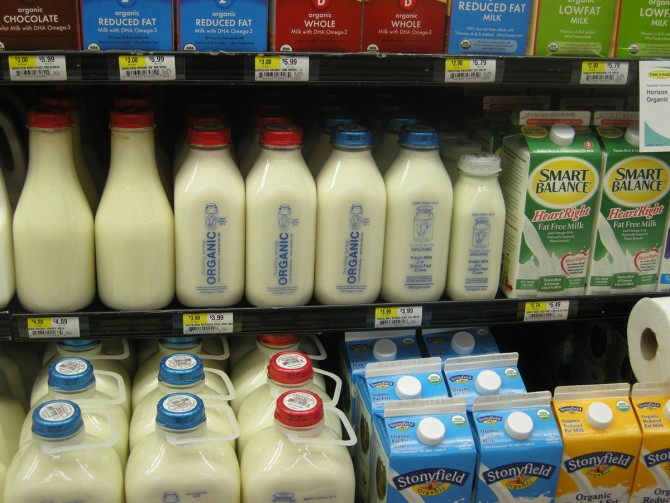milk sold in supermarket 100 percent for the Northeast