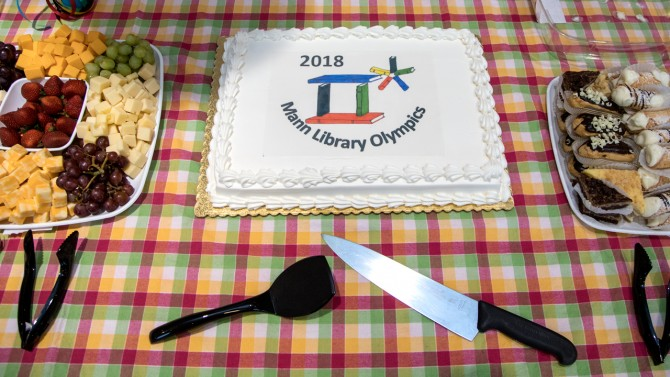 The Mann Library Olympics cake