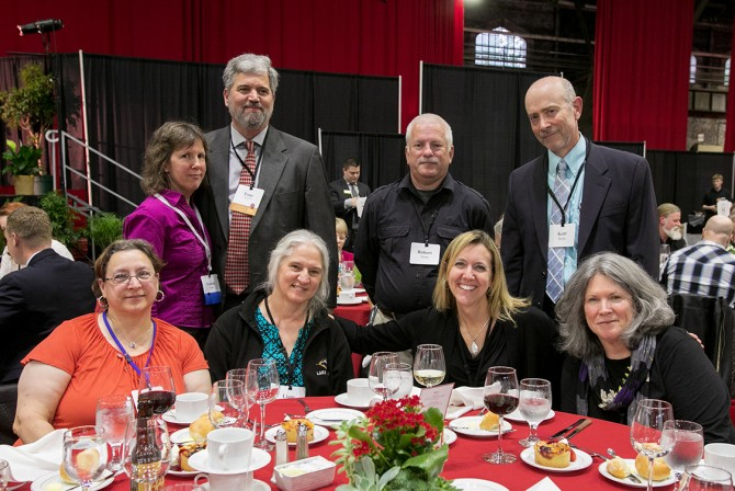 Staff members from Student and Campus Life and guests celebrate at the 63rd Service Recognition Dinner June 5.
