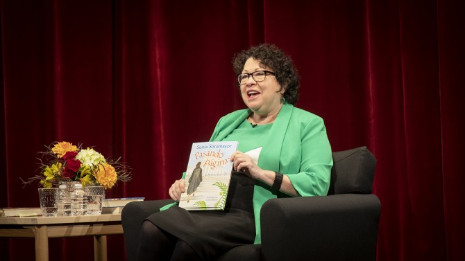 Sotomayor with book