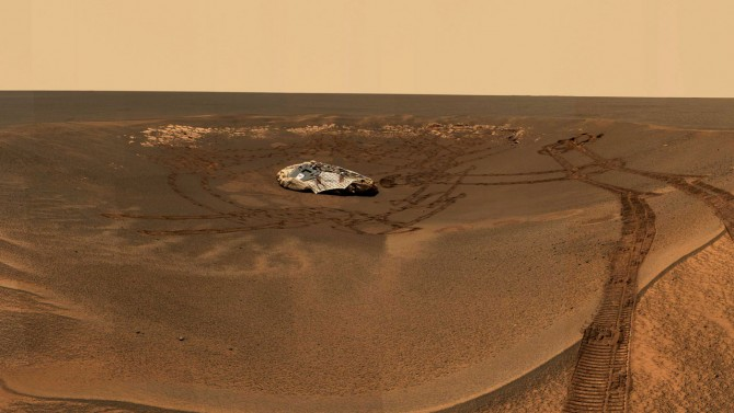 The Mars rover Opportunity lander