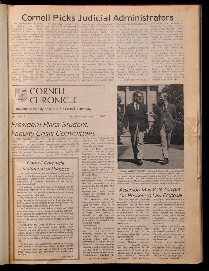 First Chronicle front page