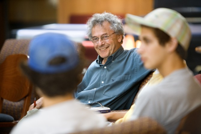 Isaac Kramnick with students in 2008