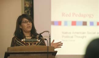 "Sandy Grande lectures on ""Red Pedagogy"" Dec. 1 at the A.D. White House."