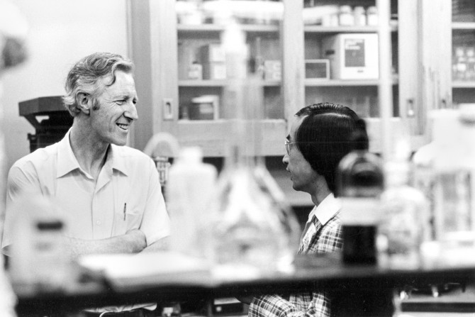 Frank Rhodes in lab