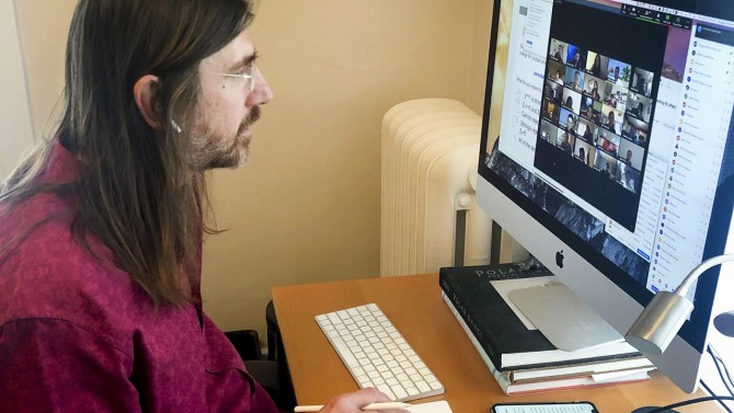Doug McKee teaching online