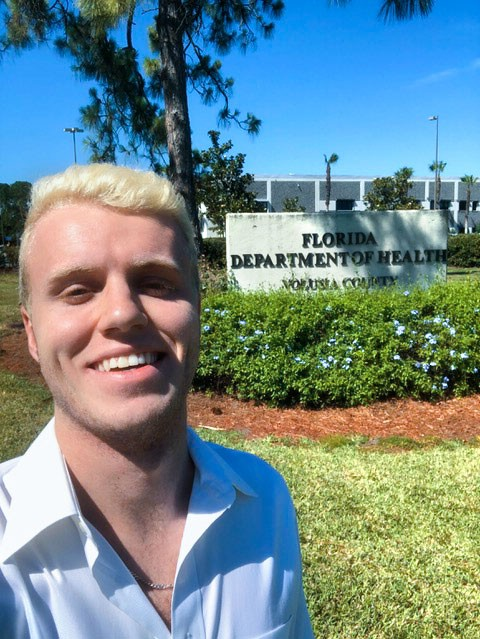 Dalton Price at the Florida Department of Health in Volusia County.