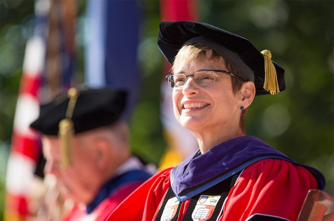 President Elizabeth Garrett at her inauguration on Sept. 18, 2015