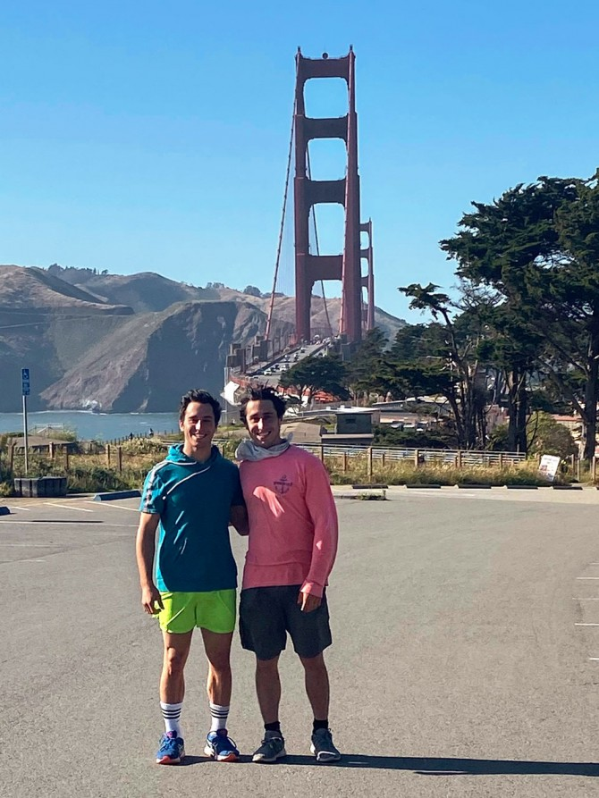 Prizant brothers at Golden Gate Bridge