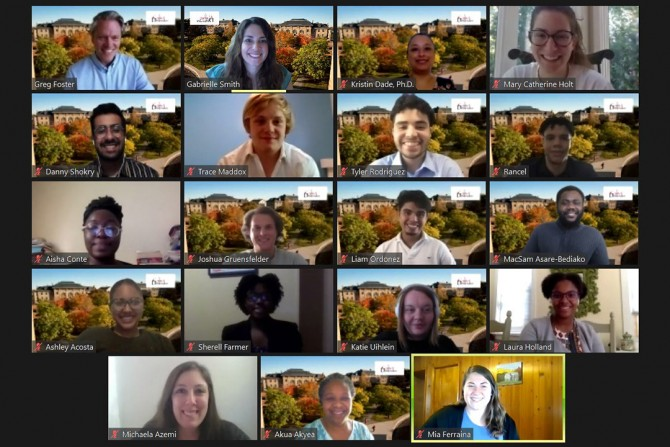 Cornell defender program participants on Zoom