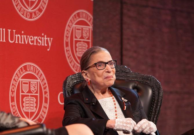 Ruth Bader Ginsburg '54 in 2014.