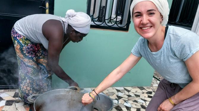 Elizabeth Heffern in Gambia