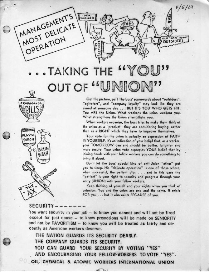Pro-union literature
