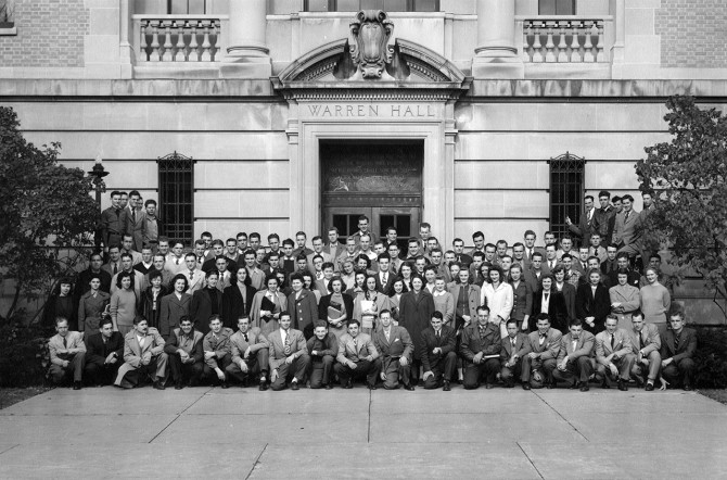 ILR's first class of students in 1945