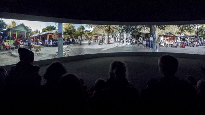 Film plays at the 56th Venice Biennale in 2015
