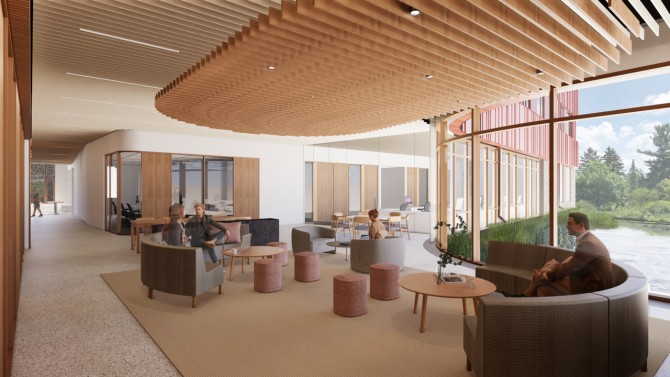 Rendering of collaborative space in Atkinson Hall