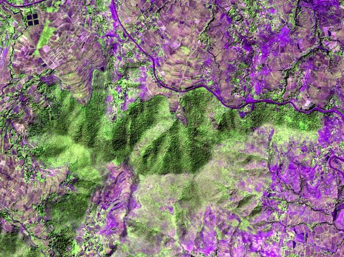 Pleiades satellite image