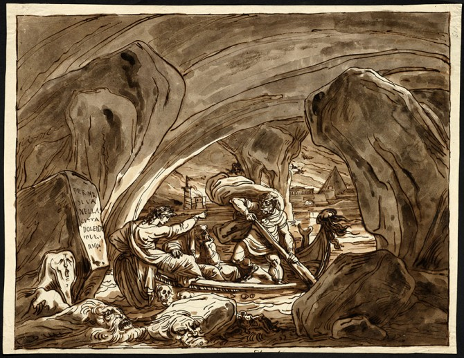 Dante and Virgil in the Bark of Charon, Inferno 3