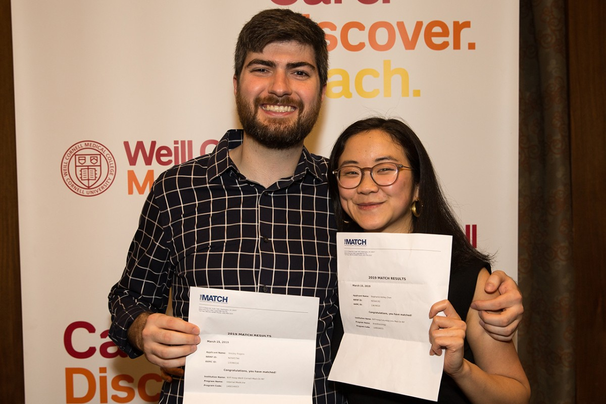 Weill Cornell medical students celebrate Match Day 2019