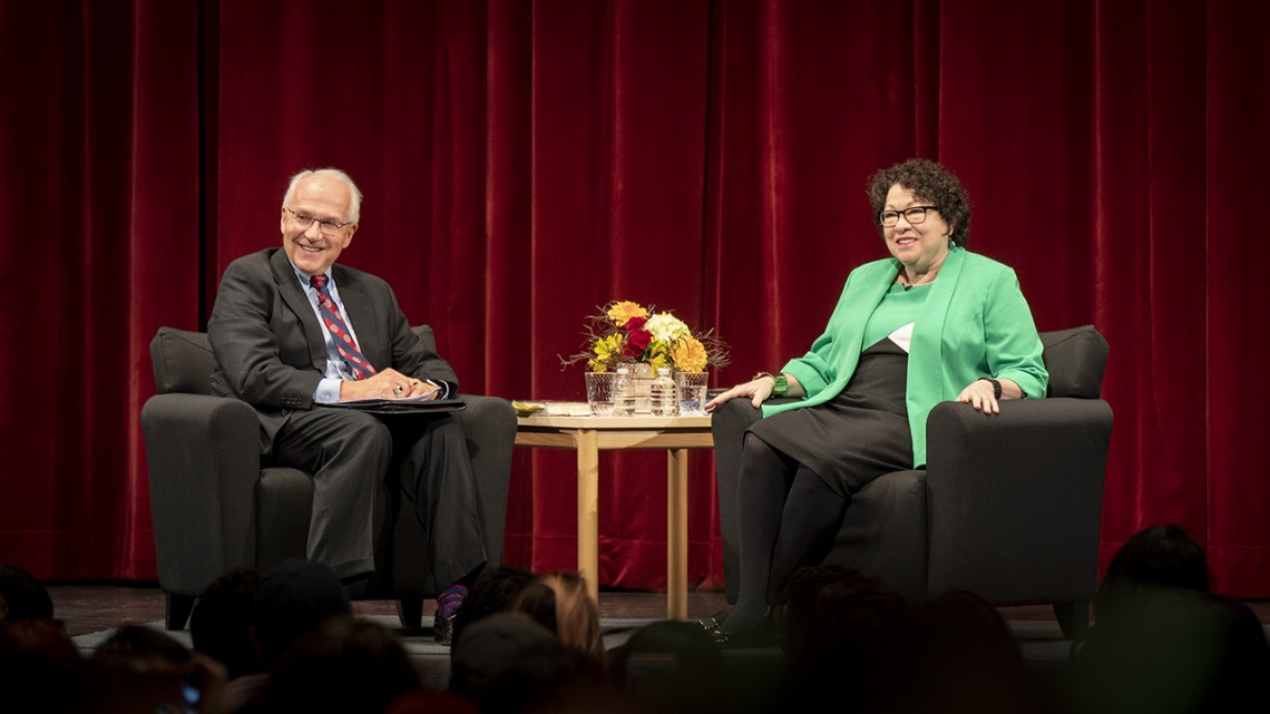 Richard Wesley and Sonia Sotomayor