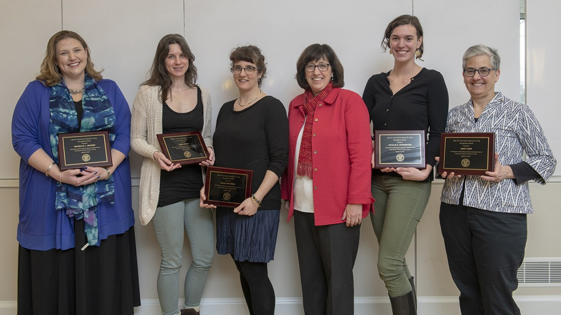 Cook Award winners and Martha Pollack