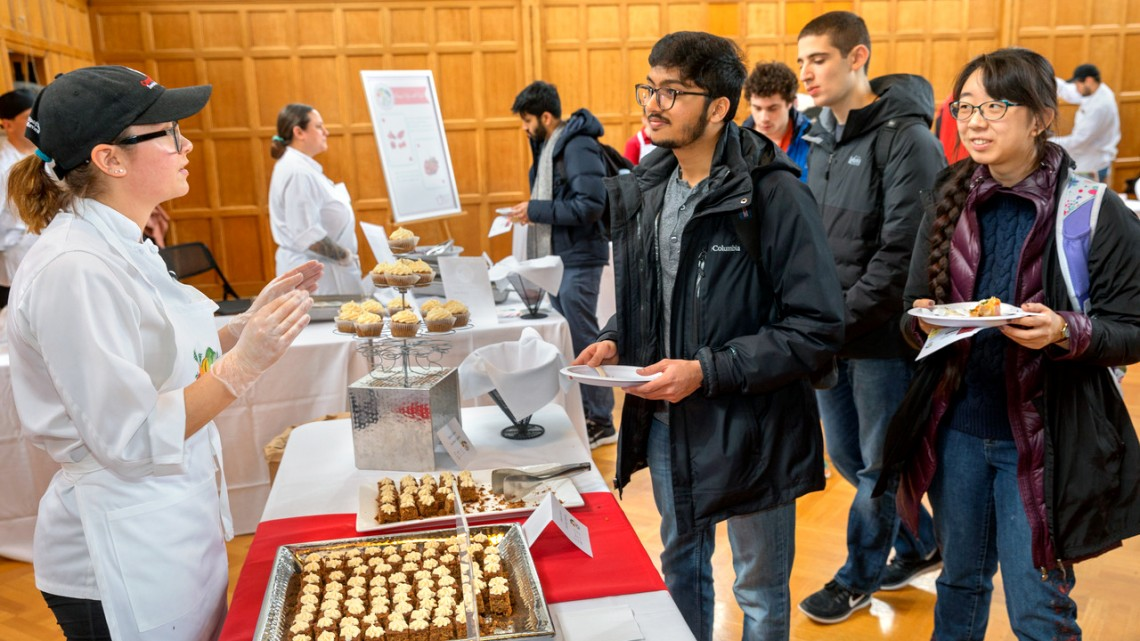 Cornell Dining staff chat with students
