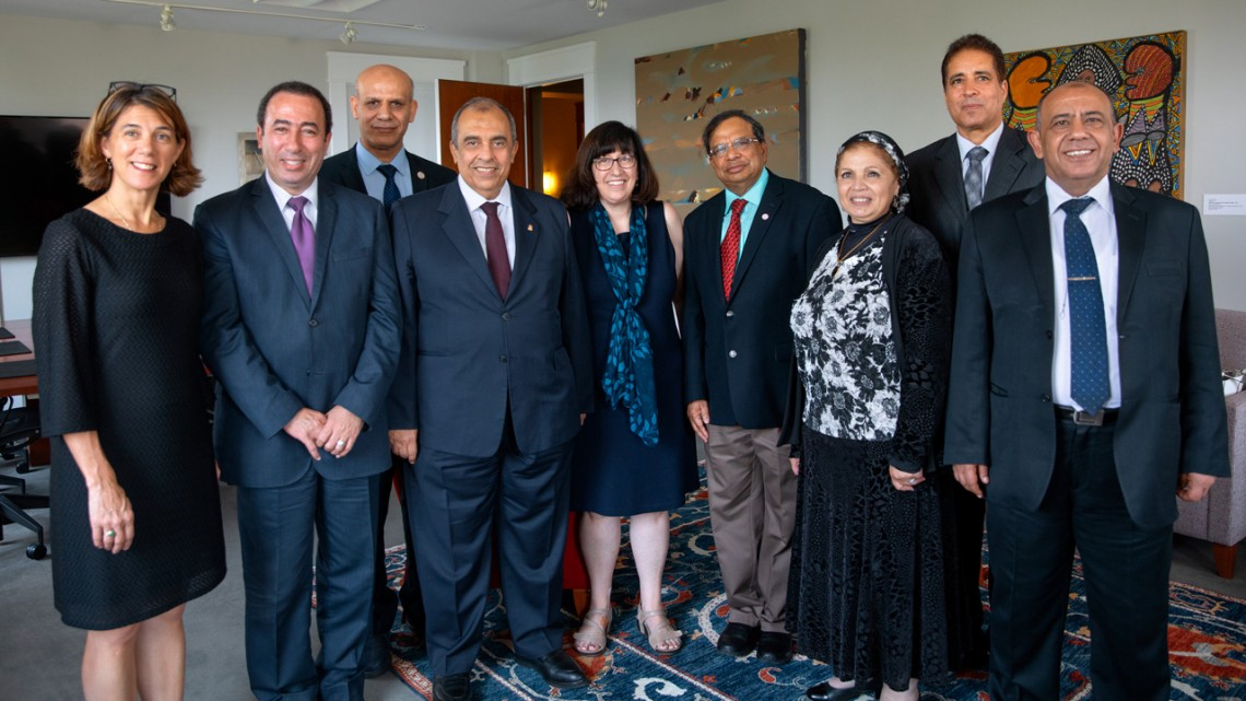 Martha Pollack meets with Egypt ministers