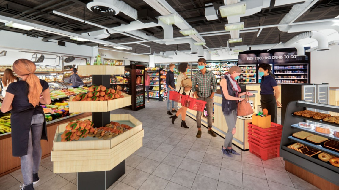 VR grocery store simulation
