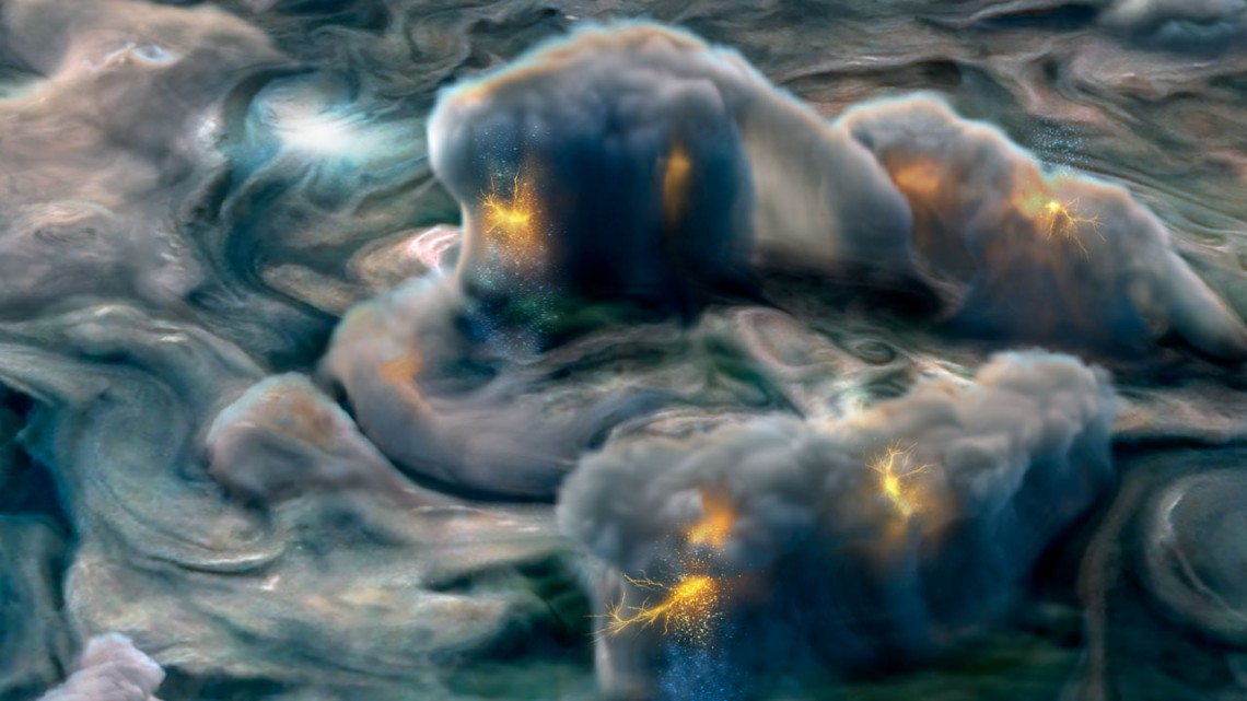 Ammonia Sparks Unexpected, Exotic Lightning on Jupiter