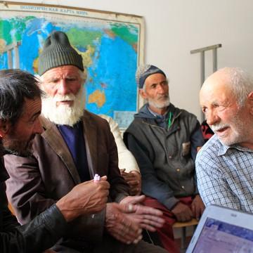 Ecological calendar validation process in Roshorv, Tajikistan.