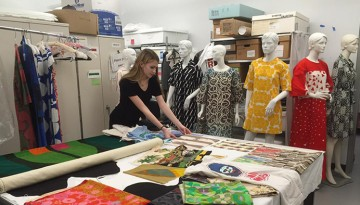 Design student prepares for the 150 Years of Cornell Fashion exhibition